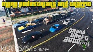 GTA 5 More pedestrians and traffic - Больше трафика и населения