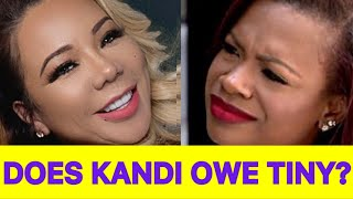 JUICY NEWS! Does Kandi Burruss Owe Tiny Harris? Tiny Was Offered A Role On #RHOA But Turned It Down!