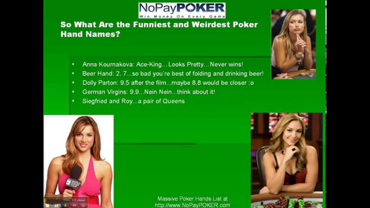 Popular online poker names