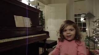 Allison, age 4 singing and playing Goodbye Yellow Brick Road by Elton John