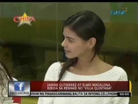 """24 Oras: Janine Gutierrez at Elmo Magalona, bibida sa remake ng """"Villa Quintana"""""""