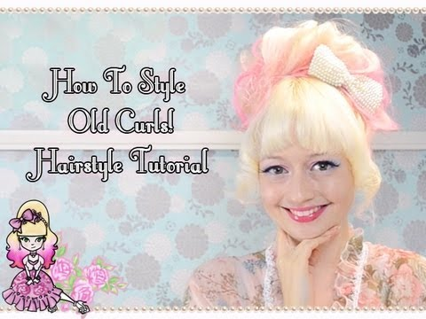 How To Style Old Curls - Messy Curly Bun Hairstyle Tutorial - Violet LeBeaux
