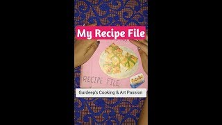 My Recipe File Review | My Graduation Final Recipe File Of Home Science