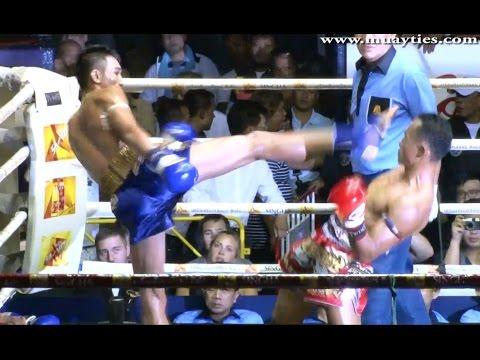Muay Thai Fight-Saenchai vs Petchmorrakot ,Rajadamnern Stadium Bangkok...