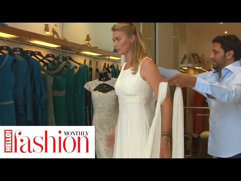 Jodie Kidd takes us behind the scenes of her model wedding dress fitting for HFM