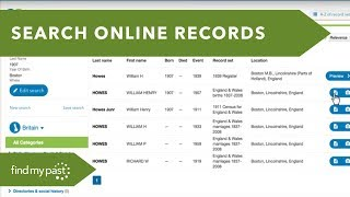 Family History: Search Birth, Marriage, Death & Census Records - Findmypast UK