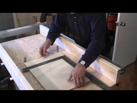 Building a Heavy Duty Crosscut Sled - A woodworkweb.com woodworking video