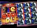 *NEW GAME* RED WOLF   Ainsworth - BIG WIN!! Slot Machine Bonus