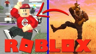 FORTNITE DANSJES IN ROBLOX !!