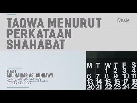Taqwa Menurut Perkataan Sahabat | Ustadz Abu  Haidar As-Sundawy