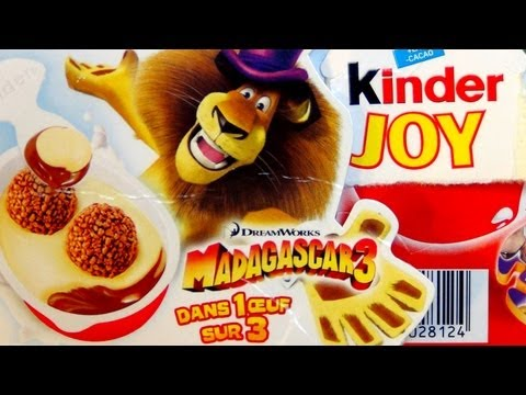 Kinder Joy Surprise Egg [Madagascar 3 Edition]