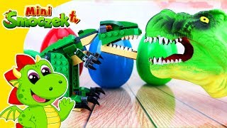 Jajko Bomba i Dinozaury | Jajka Niespodzianki Zabawki Bajki Dla Dzieci Po Polsku