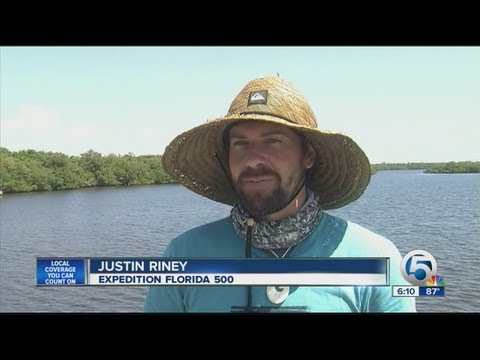 Man paddling around the state to protect the environment