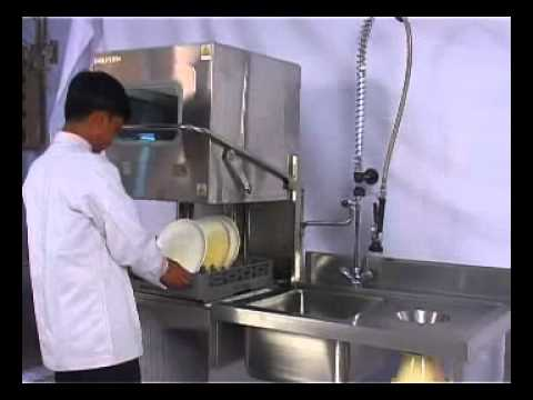 Commercial Dishwasher Hood Type Youtube