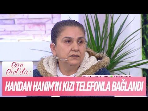 Handan Hanım'ın evlatlık verdiği kızı telefonla bağlandı - Esra Erol'da 16 Ocak 2018