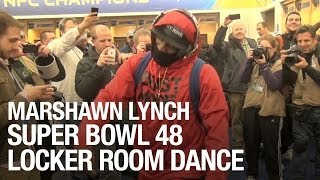 Marshawn Lynch Super Bowl 48 Locker Room Dance
