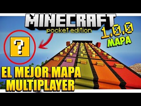 El Mejor Mapa Para Jugar Con Amigos - En Minecraft PE 1.0.0 - DESCARGA - (Para 4 Personas)👈❤