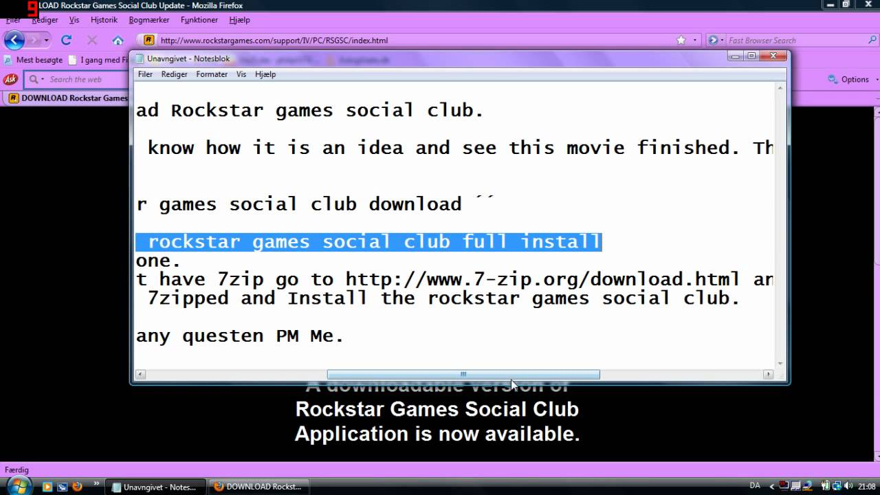 rockstar games social club windows 7