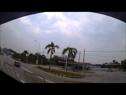 Travel from Singapore to Malacca in 3 mins Timelapse.