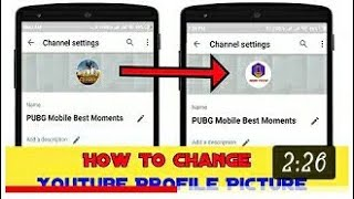 #COMEDYHKRDTECHNICAL Howto set YouTube channel profile photo or logo in Android in 2mins