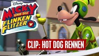 MICKY UND DIE FLINKEN FLITZER - Clip: Hot Dog Flitzer Rennen | Disney Channel