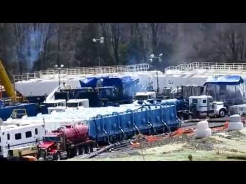 Fracking Mead Gas Site - Cabot Oil and Gas  - 4-28-14