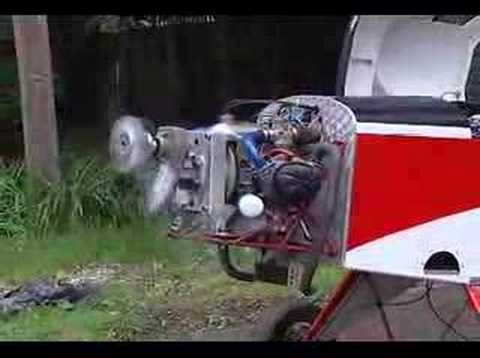 Citroen 2cv engine running on a MiniMax 1600 Airplane