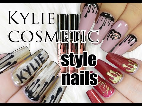 KYLIE COSMETIC STYLE NAILS ! 3 WAYS | Red Iguana | April Ryan