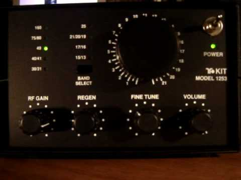 Ten-Tec T1253 Regen SW Radio Kit SSB demonstration