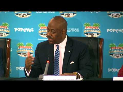 Popeyes Bahamas Bowl 2014 - Bahamas Ministry of Tourism Press Conference