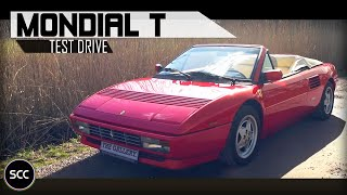 FERRARI MONDIAL T CABRIOLET 1993 | Test drive in top gear | V8 engine sounds | SCC TV