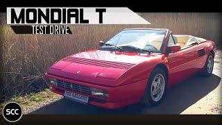 FERRARI MONDIAL T CABRIOLET 1993   Test drive in top gear   V8 engine sounds   SCC TV