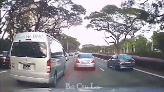 mar2019   #PC7206Y toyota Hiace   from Nam Ho Travel Service Singapore  dangerous & reckless driving