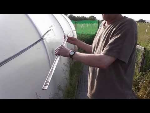 How to make a cheap simple and easy polytunnel gutter water collecting device