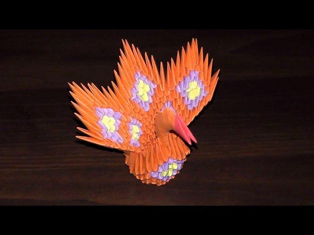 Модульное оригами Жар Птица