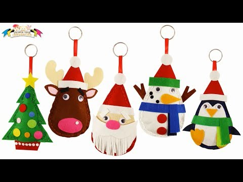 Felt Craft - Merry Christmas Santa Plushie Easy Sewing Fun - YouTube