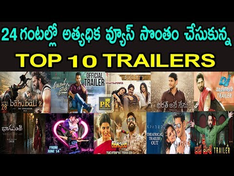 Top 10 Most Viewed Trailers in 24 Hours | Tollywood Top 10 Most Watched Trailers in 24 Hours | PK TV