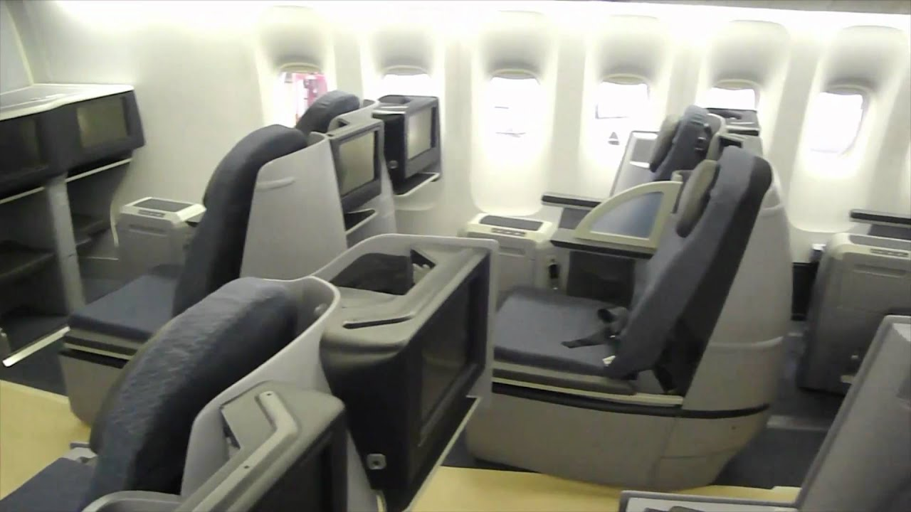 United Airlines First Class 777 200 Continental Airlines New
