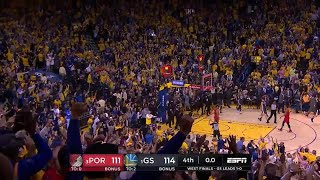4th Quarter, One Box Video: Golden State Warriors vs. Portland Trail Blazers