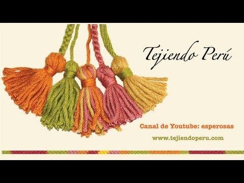 Borlas en lana o hilo - Tejiendo Perú