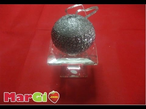 Addobbi natalizi palline in polistirolo  con porporina e paillettes