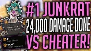 #1 JUNKRAT 24,000 DAMAGE GAME vs CHEATER
