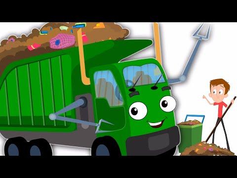 The Wheels On The Garbage Truck | Original Nursery Rhymes | Kids Songs