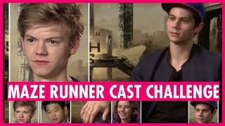 Maze Runner Cast Challenge - with Dylan O'Brien and Thomas Brodie-Sangster