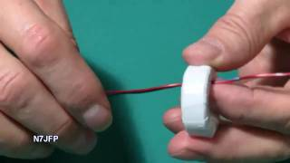 Winding a 1:4 Current Balun with 8 turns.
