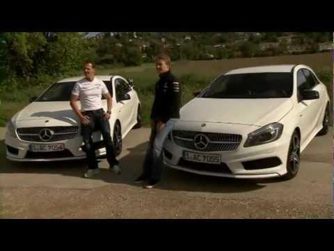 Michael Schumacher & Nico Rosberg - Mercedes 2013 A250 Sport