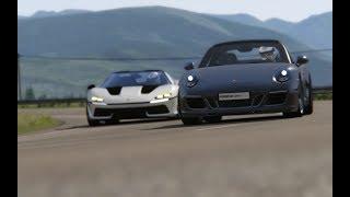Ferrari J50 vs Porsche 911 Carrera GTS '91 at Highlands