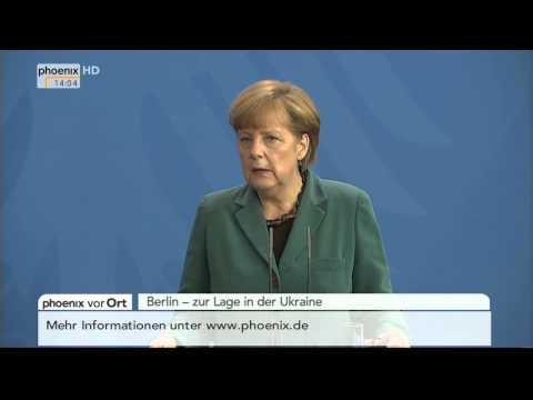 Ukraine-Krise - Angela Merkel zum Verhalten Putins am 30.04.2014