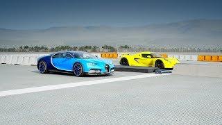 Bugatti CHIRON vs Hennessey VENOM GT Drag Race! Forza 7