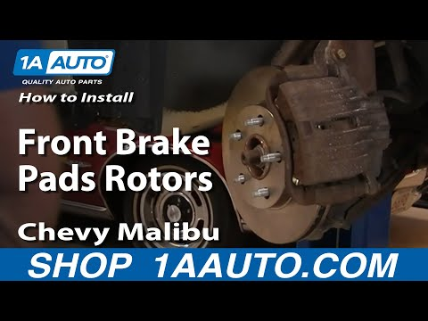 How To Install Replace Front Brake Pads Rotors Chevy Malibu Pontiac and Oldsmobile 97-05 1AAuto.com
